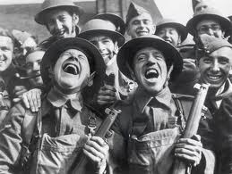 british soldiers laughing